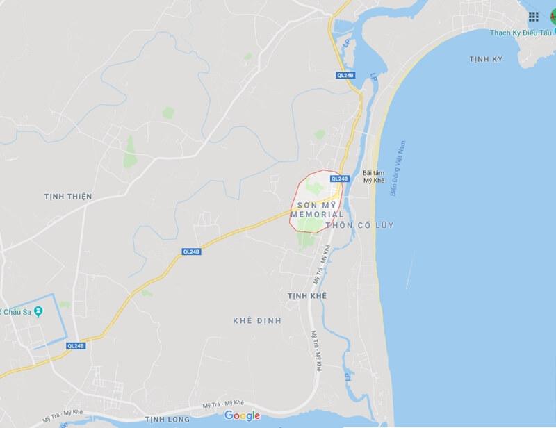 My Lai Vietnam Map