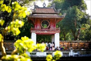 Literature of Temple in Hanoi Vietnam