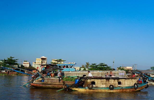 Cai Rang Market in Mekong Delta Vietnam