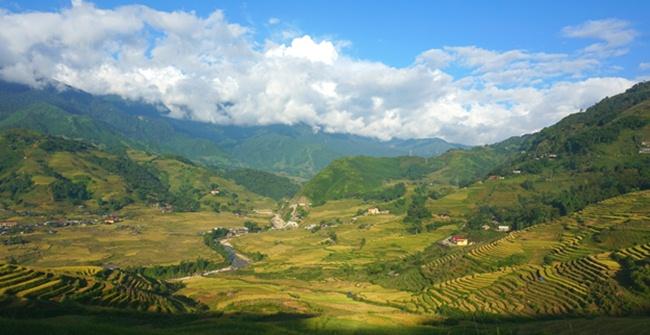 Muong Hoa Valley in Sapa Vietnam