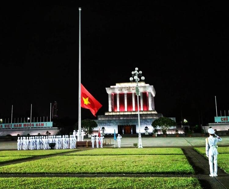 Ba Dinh Square at Ho Chi Minh Mosoleum, Hanoi