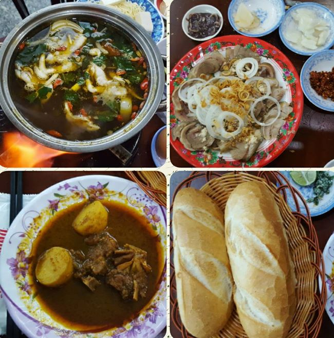 Hot pot of the goat meat at Lau De Restaurant