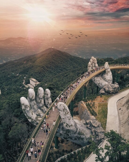 Golden Bridge in Danang City