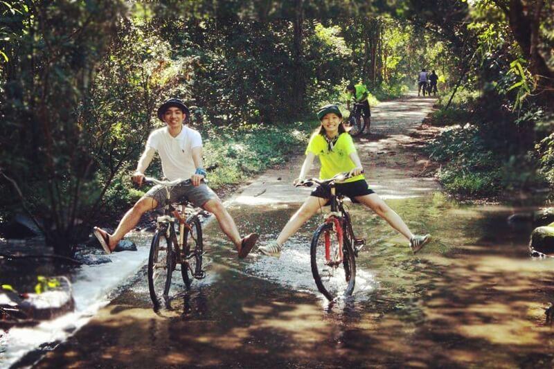 Biking in Nam Cat Tien